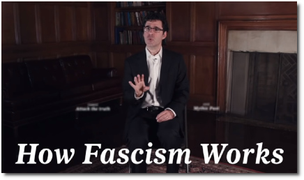 Is President Trump Fascist? by Jason Stanley Yale Philosophy (15 Oct 2018)
