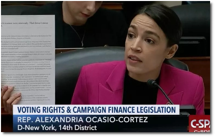 AOC's lightning-round game on money in politics goes viral during House committee hearing on broken campaign finance laws (6 Feb 2019)