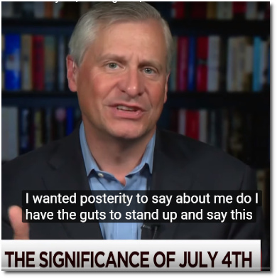 Jon Meacham says folks in elected office should ask themselves if they have the guts to stand up to Trump's repeated assaults on the Constitution (4 July 2019)