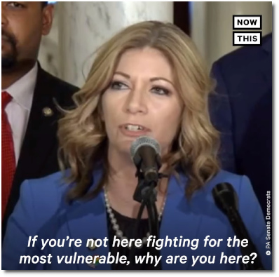 Pennsylvania state senator Katie Muth asks her fellow senators, 'If you are not here fighting for the most vulnerable, then why are your here?'