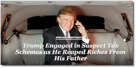 Trump's suspect tax schemes (NY Times, 2 Oct 2018)