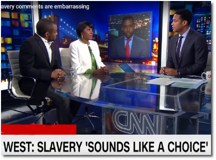 Don Lemon and a panel of blacks say that Kanye's comment that 400 years of slavery 'sounds like a choice' is embarrassing (1 May 2018)