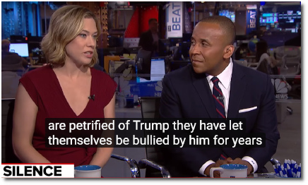 Elise Jordan says the reason why spineless Republicans are not condemning Trump's blatantly racist attacks against people of color .. is because they are 'petrified' of him .. because they have let him bully them for years. (29 July 2019)