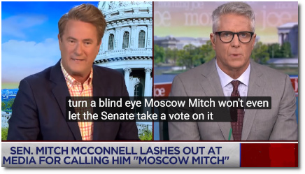 Coffee Joe calls out 'Moscow Mitch' for preventing a vote on a bill that would shore up election security