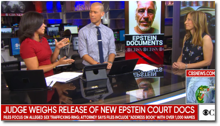 Judge weighs the release of thousands of pages of new Epstein court documents (5 Sept 2019)