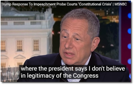 Foreign policy expert David Rothkopf discusses the coming Constitutional crisis resulting from Trump's refusal to accept the legitimacy of congressional oversight (8 Oct 2019)