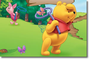 Pooh & Piglet looking for butterflies