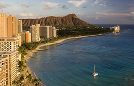 Waikiki and Diamond Head