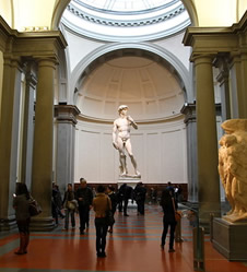 David by Michelangelo (1501-1504) in Florence, Italy