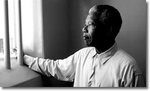 Mandela in Jail, Looking out the barred window