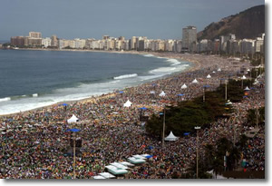World Youth Day July 2013 Rio de Janiero, Brazil | Copacabana Beach