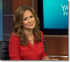 Lauren yearning in her red-hot shirt