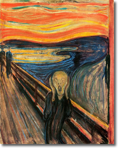 The Scream by Edvard Munch (1893)