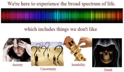 Full-spectrum living includes life's unpleasantries