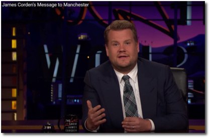 James Corden's message to Manchester