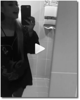 Ariana in a forever mood in a restroom on Aug 15, 2017