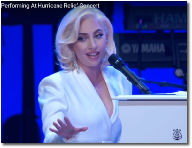 Gaga giving it to Dubya during hurricane relief concert in Texas October 21, 2017