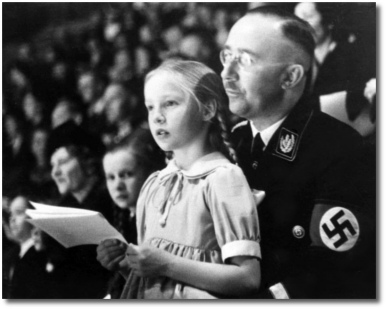 Heinrich Himmler with his daughter Gudrun in Berlin March 6, 1938