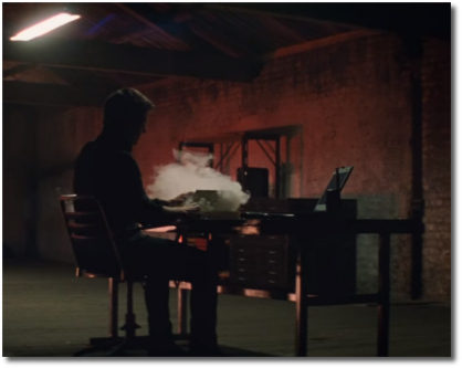 Mission Impossible Fallout smoking laptop