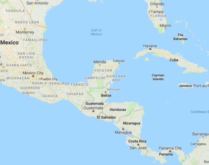 Map of Central America