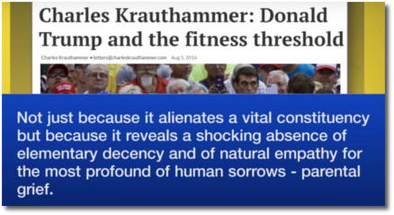 Krauthammer says that Trump lacks basic decency and empathy