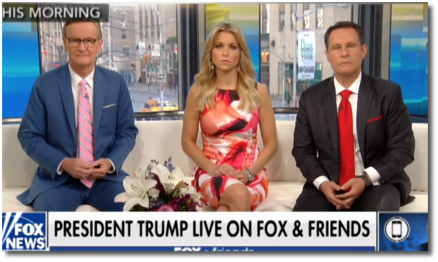 Trump ranting live on Fox-n-Friends (26 April 2018)